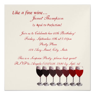aged to perfection invitations announcements zazzle uk