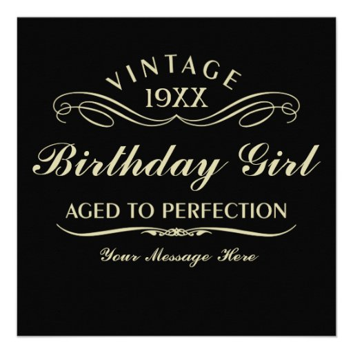 Aged to Perfection Funny Birthday Custom Announcements