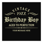 Aged to Perfection Funny Birthday 13 Cm X 13 Cm Square Invitation Card