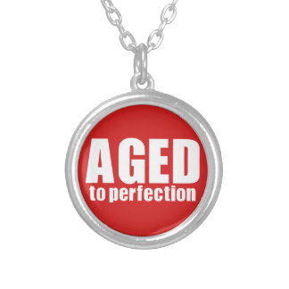 Aged to perfection silver plated necklace