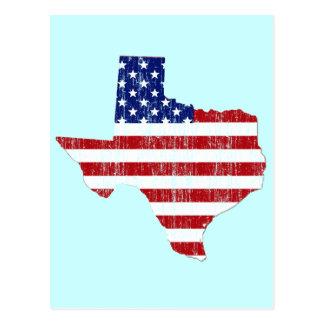 AGED US FLAG TEXAS POSTCARD
