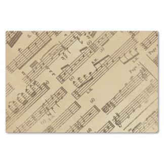Aged Vintage Music Sheet Paper
