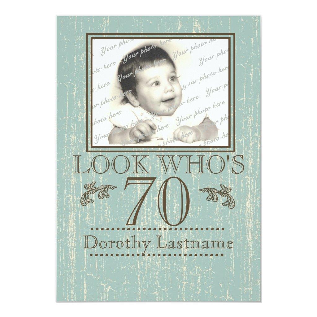 70th Birthday Photo Card