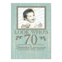 70th Birthday Photo Card
