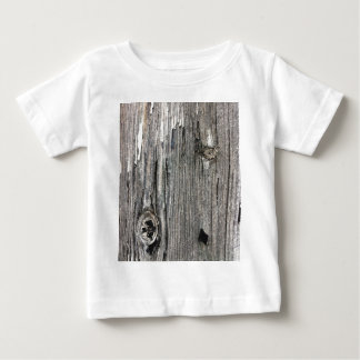 Aged wood fence posting from rustic bush setting baby T-Shirt