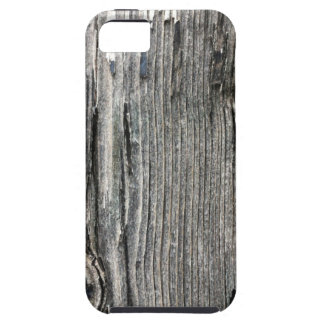 Aged wood fence posting from rustic bush setting iPhone 5 cover