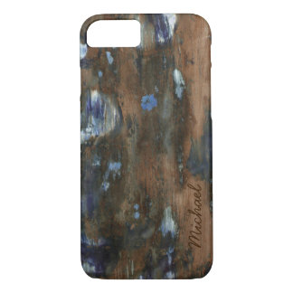 aged wood texture personalized iPhone 7 case