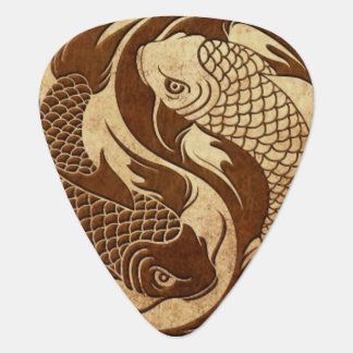 Aged Yin Yang Koi Fish Guitar Pick