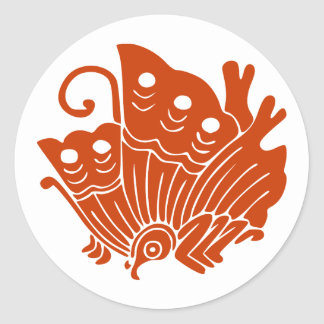 Ageha cho, Japan Round Sticker