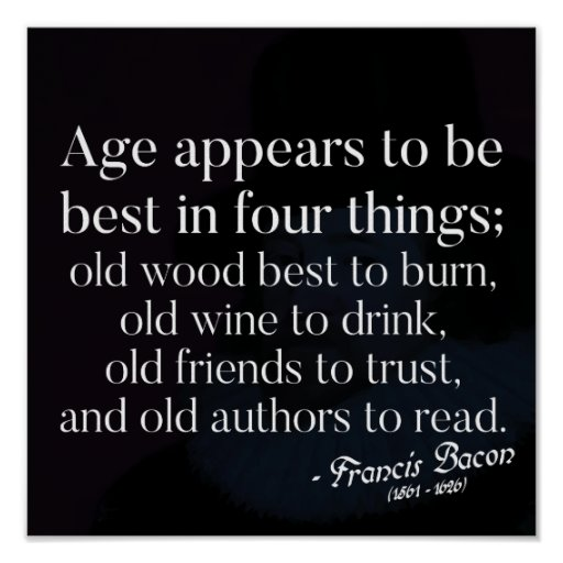 Ageing Wisdom quote Poster