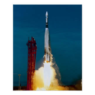 Agena Target Vehicle Launch as part of Gemini 12 Poster
