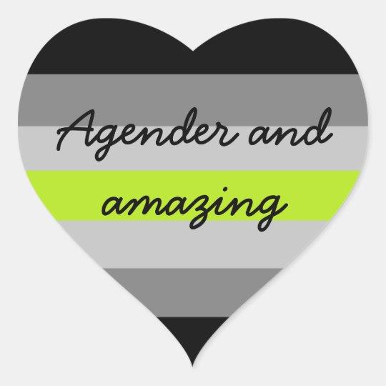 Agender and Amazing Sticker