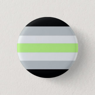 Agender flag 3 cm round badge