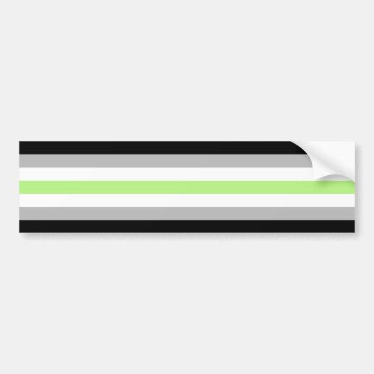 Agender Pride Flag Bumper Sticker