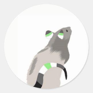 Agender Rat Classic Round Sticker