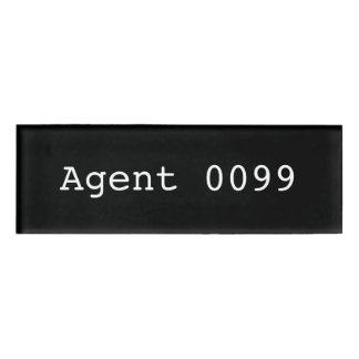 Agent 0099 Name Tag