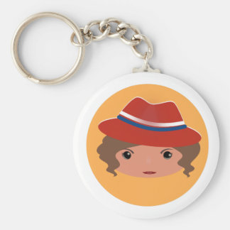 Agent casing basic round button key ring