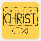 Agent of Christ Sticker