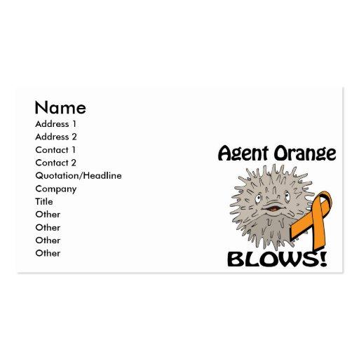 Agent Orange Blows Awareness Design Business Card