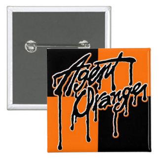 "Agent Orange ""Drip"" Logo Square Punk Button"
