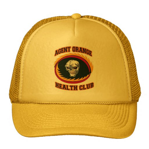 AGENT ORANGE HEALTH CLUB TRUCKER HATS