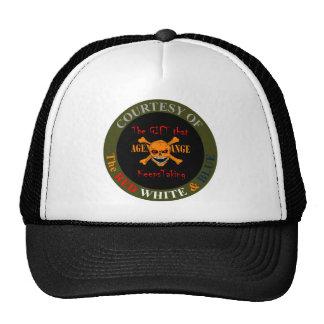 Agent Orange - Skull and Crossed Bones Mesh Hats