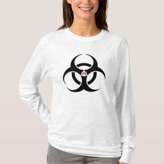 Agents In Red Biohazard Ladies AA Hoody Long Sleev