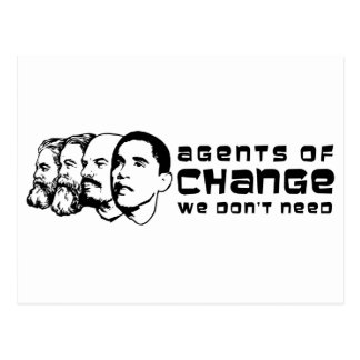 Agents of change we don't need postcard