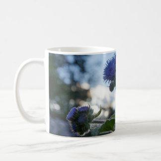 Ageratum Floss Flower Floral White Mug