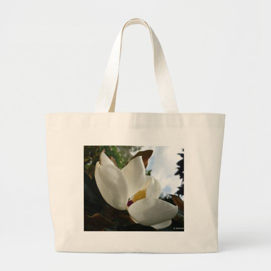 Aggelikis Magnificent Magnolia Design Large Tote Bag