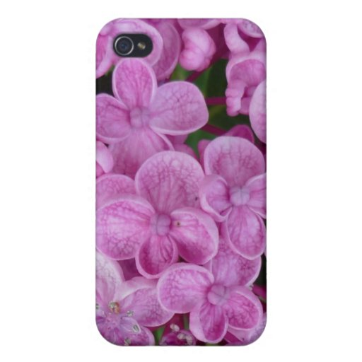 Aggelikis Purple Hydrangea Design Cover For iPhone 4