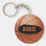 Aggie Grunge Basketball Keychain / Keyring