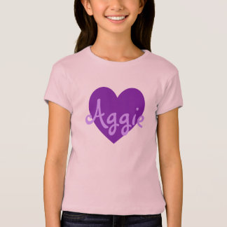 Aggie in Purple T-Shirt