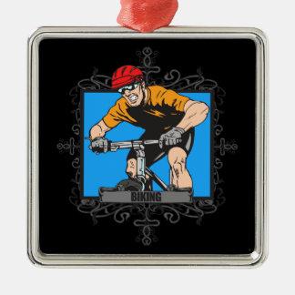 Aggressive Biking Christmas Ornament