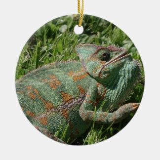 Aggressive Chameleon Ornament