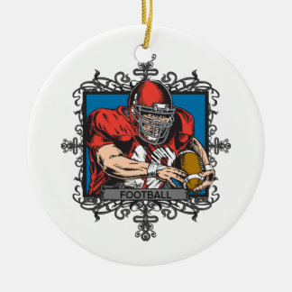 Aggressive Football Christmas Tree Ornaments