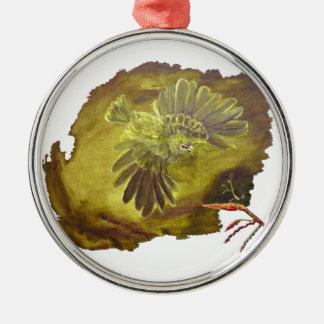 """""""Aggressive Green Parrot"""" Premium Circle Ornament Christmas Tree Ornaments"""