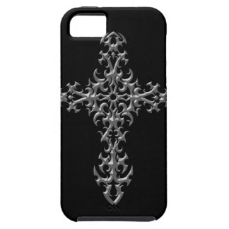 Aggressive Grey Gothic Cross iPhone 5 Cases