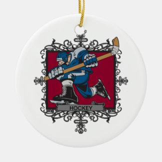Aggressive Hockey Christmas Tree Ornaments