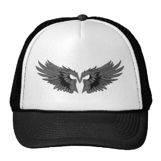 Aggressive mask with wings cap