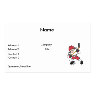 aggressive mean ice hockey player graphic business card template