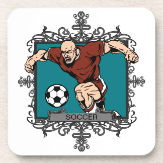 Aggressive Men s Soccer Drink Coasters