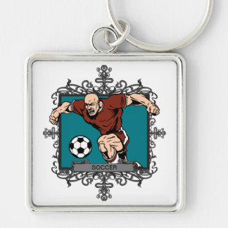 Aggressive Men s Soccer Keychains