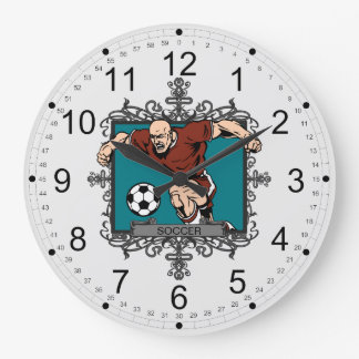 Aggressive Men's Soccer Clock