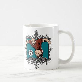 Aggressive Men's Soccer Coffee Mugs