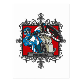 Aggressive Motocross Postcard