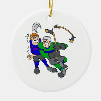 Aggressive player Double-Sided ceramic round christmas ornament
