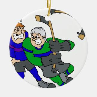 Aggressive player ornaments