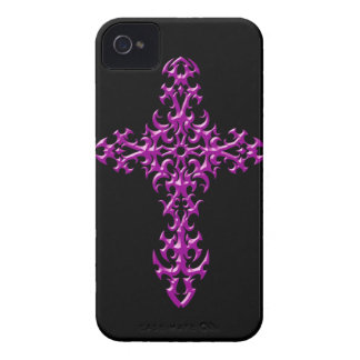 Aggressive Purple Gothic Cross iPhone 4 Cover