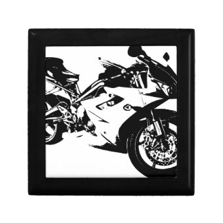 aggressive sport motorcycle small square gift box